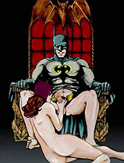 Batman gives up his girl to fuck Ivy's twat