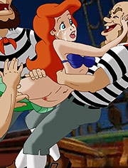 Ariel caught and drilled by sailors