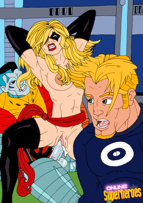 Blond X-slut changing dicks