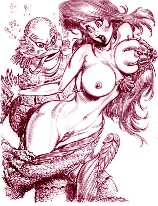 Ariel gets fucked by hideous sea-monsters