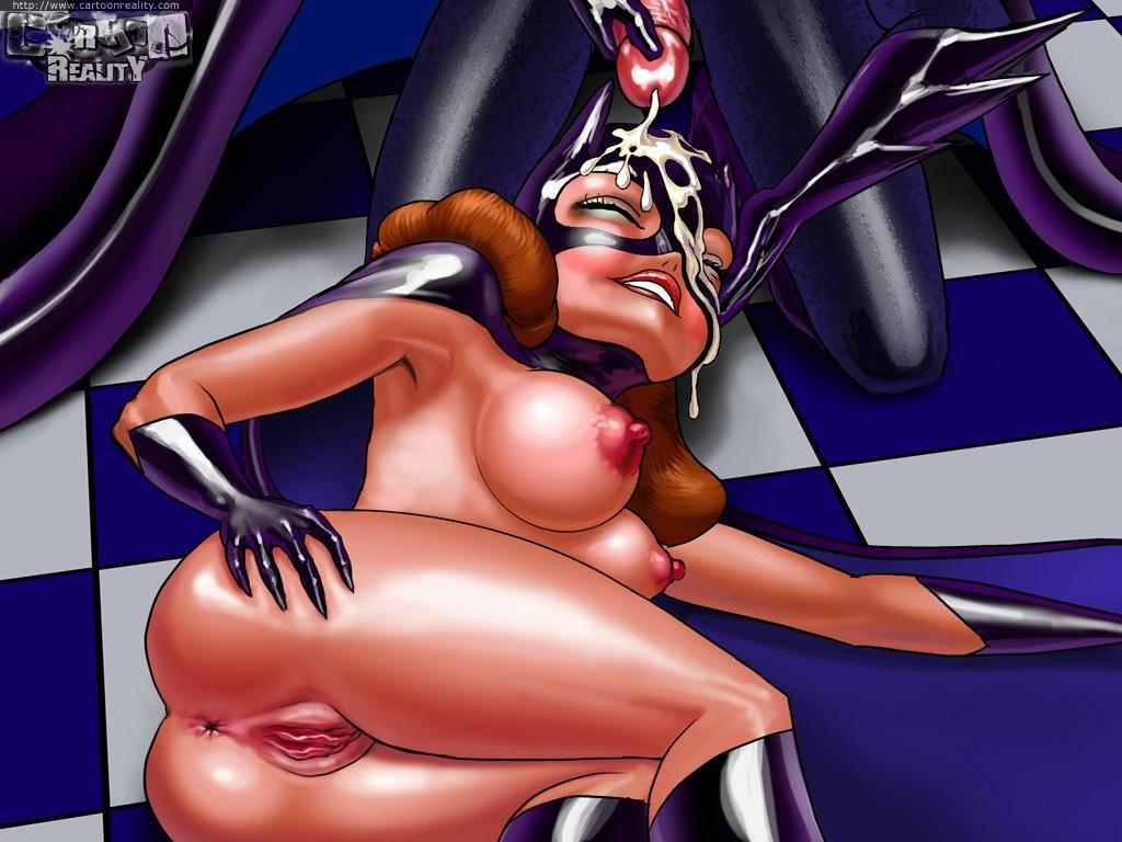 Batgirl milks drawn cocks