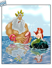 See nude Mermaid with her father!