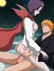 Rukia bounds on Ichigo's dick