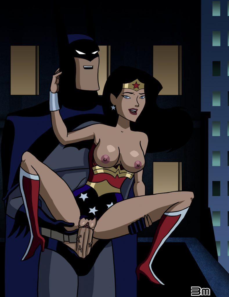 Wonder Woman tests big Batman's rod