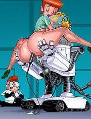 Robot banging Dexter's Mom