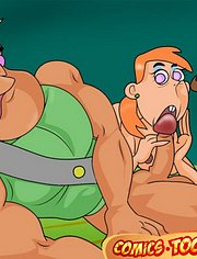 Jorgen Von Strangle starts banging Mrs. Turner and her female friend