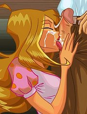 Helia and Flora start with blowjob