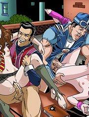 Robbie, Hermione, Sportacus, Stephanie fucking