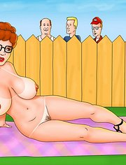 The boys watch a nude Peggy