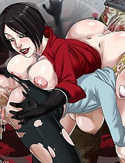 Ada Wong and Sherry Birkin drilled