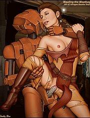 Military robot fucks a seductive slut