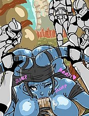 Imperial stormtroopers do Aayla Secura