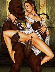 Princess Leia banged by Chewbacca