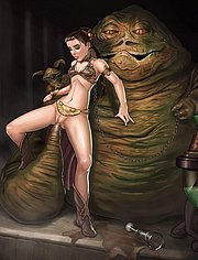 Jabba fucking Princess Leia